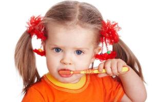 ბავშვები, კბილების ხეხვა